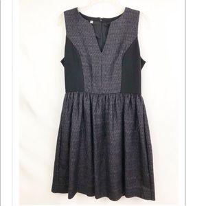 Anthropologie 4C Fit and Flare Black Dress Size 6
